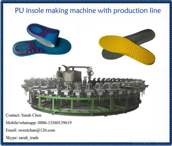 semiautomatic pu footwear slipper injection production line 2