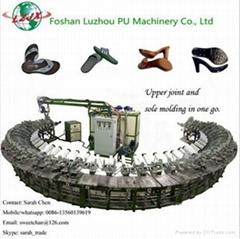 leather shoes pu molding production line