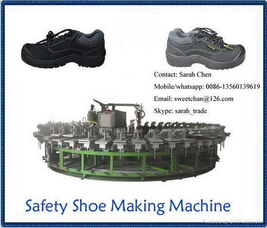 semiautomatic safety shoes pu foaming production line 2