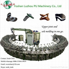 lady high heel pu injection foaming production line