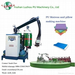 memory foam pillow sponge pu foaming machine with turntable production line