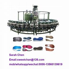 Pu sole making machine shoe production line