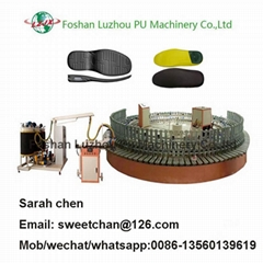 automatic pu shoe soles insole foaming production line
