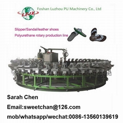 PU shoe insole and outsole rotary machine