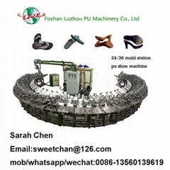 PU men leather shoes filling machinery