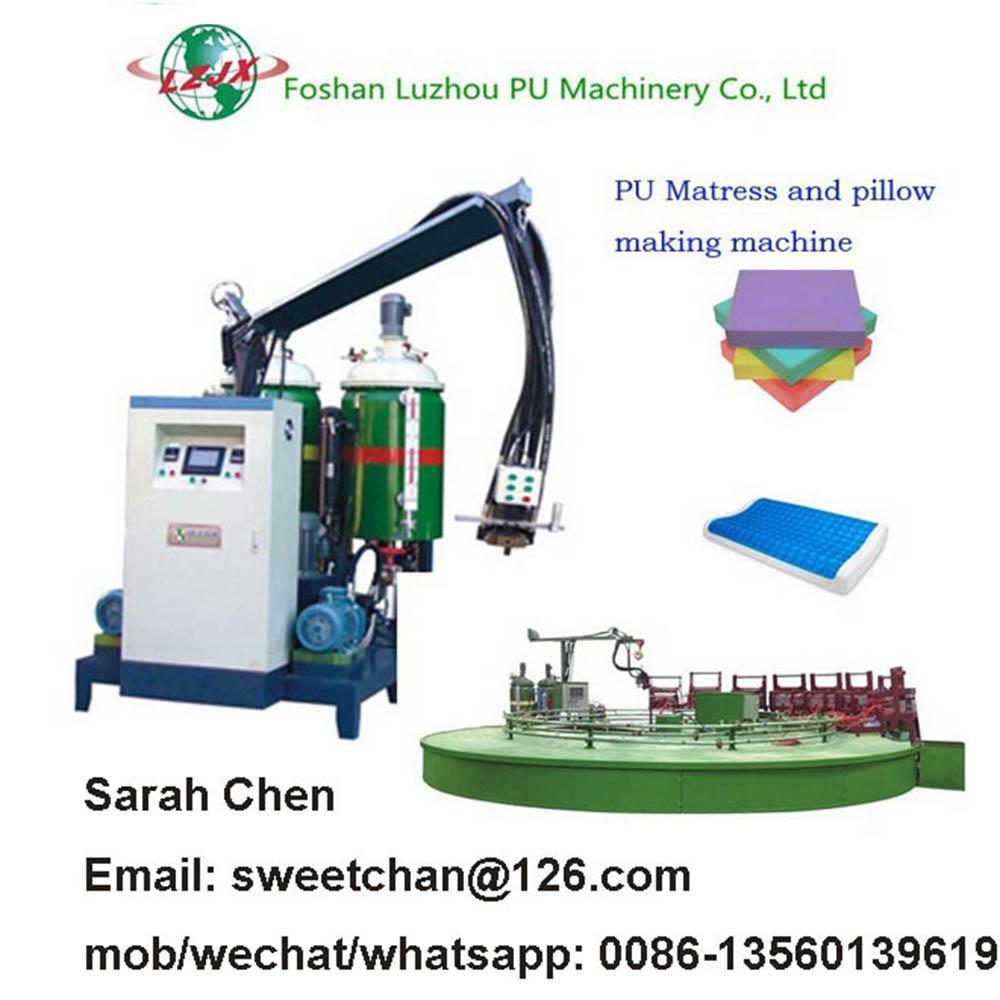 PU car seat molded foam machinery  3