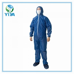 Disposbale PP Non-woven Coverall made by polypropylene