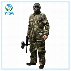 Disposable camouflage coverall for paintball
