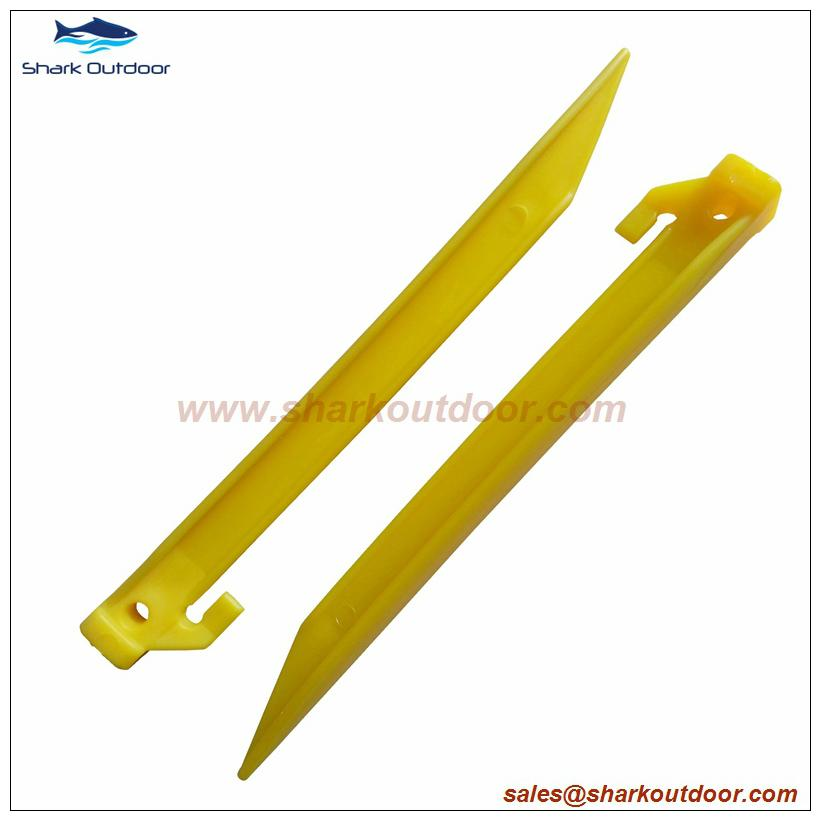 """High quality colorful endurable plastic tent peg for outdoor camping 9"""" 1"""