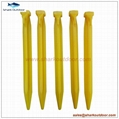 """High quality colorful endurable plastic tent peg for outdoor camping 9"""" 2"""