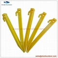 """High quality colorful endurable plastic tent peg for outdoor camping 9"""" 5"""