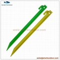 """PP or ABS plastic tent stake for camping accessory 12"""" 1"""