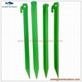 """PP or ABS plastic tent stake for camping accessory 12"""" 5"""