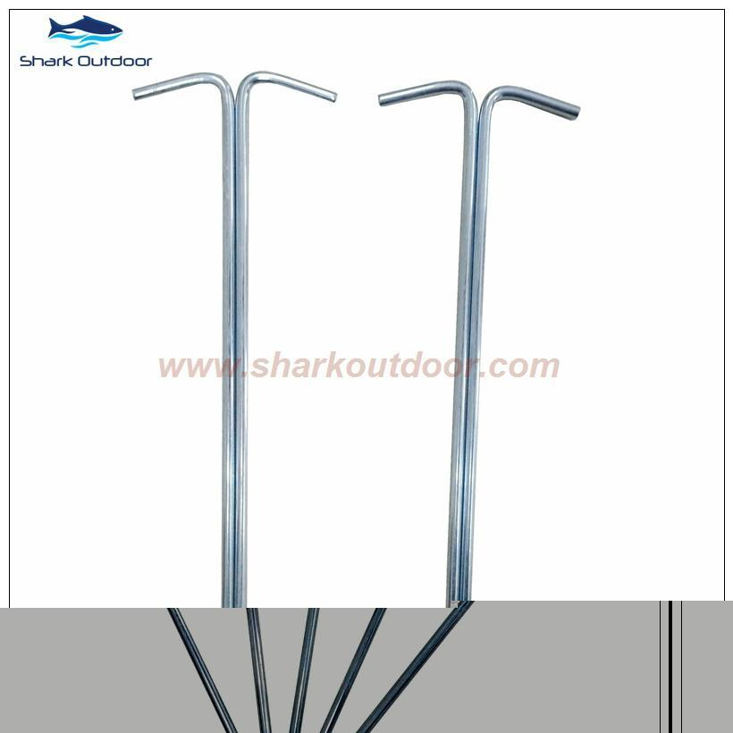 Ga  anized outdoor camping steel round wire tent peg stake  2