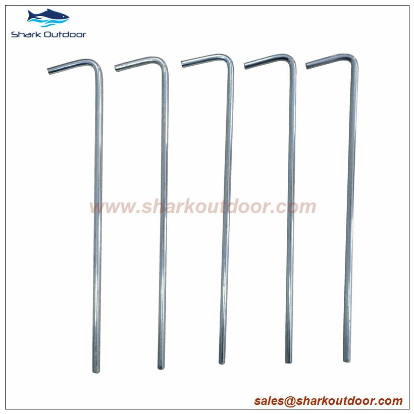 Ga  anized outdoor camping steel round wire tent peg stake  4
