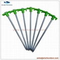 Ground hard ga  anized steel tent peg