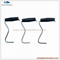 Good quality tent peg puller extractor with plastic handle