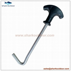 Hot sale tent peg remover with plastic header