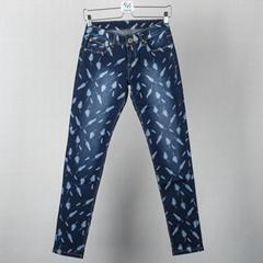 woman printed skinny jeans