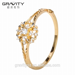 hot sales custom fashion gemstone gold plating bangle jewellery design for girls
