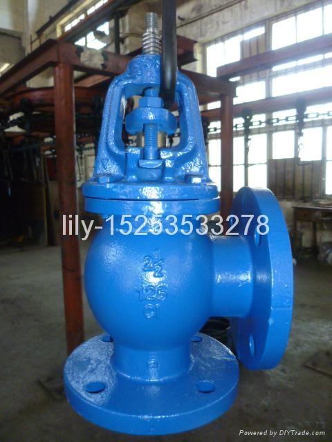ANSI cast iron angle globe valve 1