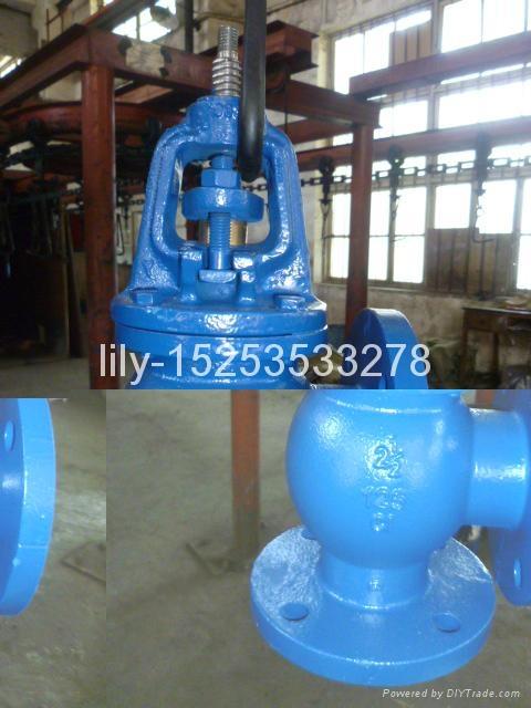 ANSI cast iron angle globe valve 3