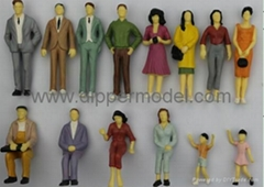 Color Painted Scale Model Figures for Architectural Model and Train model Layout