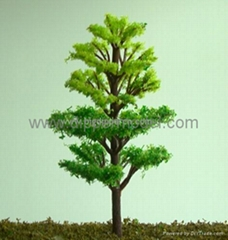 Various model trees for architectural model and train model scene layout