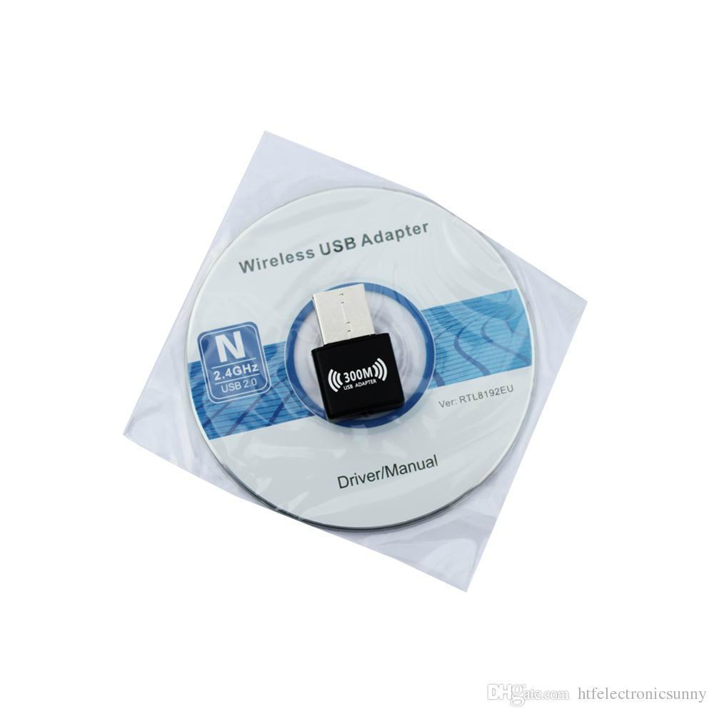 Mini 300M USB2.0 RTL8192EU chipset WiFi Wireless Network Card Adapter 802.n g b  4