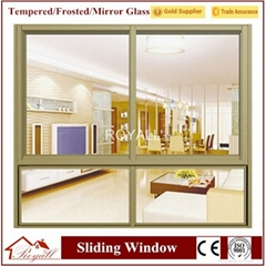 Different Color&Thickness Tempered Glass Customized Size Aluminium Window
