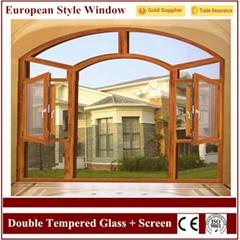 Aluminium Double Tempered Glass Broken Screen Window