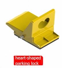 heart-shaped parking lock
