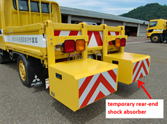 temporary rear-end shock absorber
