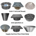 Stainless Steel Strainer For Cast Iron Floor Drain Qsf