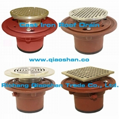 1100 Series Cast Iron Floor Drain Body with No-Hub, Push On Outlet