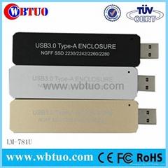 External USB3.0 type A NGFF M.2 hard disk drive ssd hdd