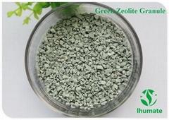 Green zeolite granule for soil improvement