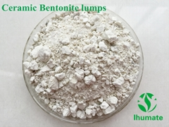 Ceramic white bentonite lumps