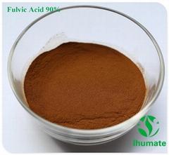 90% Fulvic acid brown yellow powder