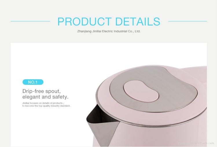 Large Electric Tea Kettle Cordless Electric Plastic Kettle 5