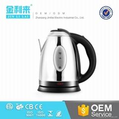 1.8升不锈钢电茶壶  电热水壶带可视水窗 快速烧水壶