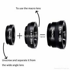 2016 New Fish Eye Clip Mobile Phone Camera Lens