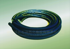 Type 909 SAE 100 R6 One-Layer Woven Fiber Hydraulic Rubber Hose