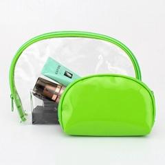Fashion beauty travel pvc clear plastic cosmetic bag