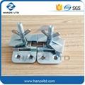 Screen printing hinge clamps