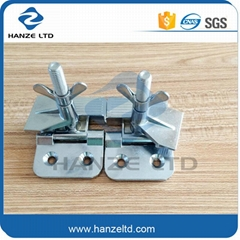 Screen printing hinge clamps