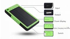 6000mah portable powerbank solar power bank charger mobile phone body panel 0.7