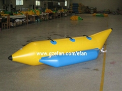 Inflatable boat, banana