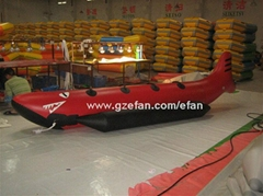 Inflatable boat, banana