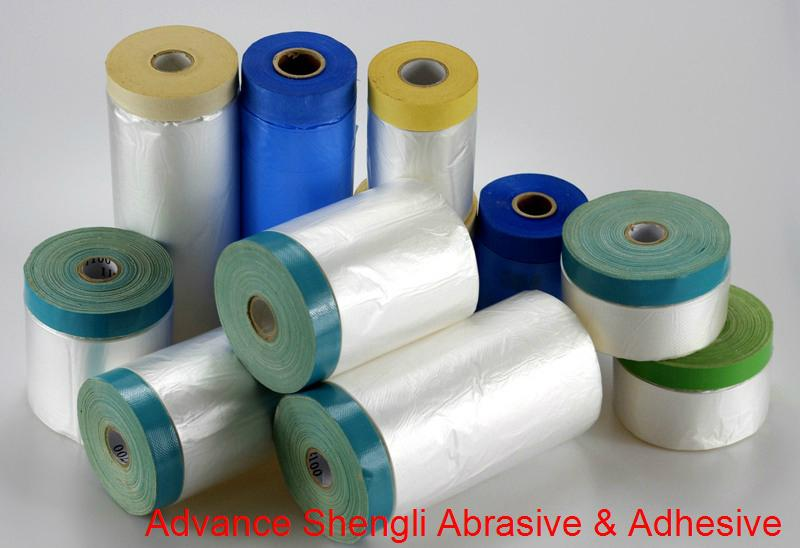Pre-taped Masking Film With 70mesh cloth masking tape 1